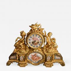 Sevres S vres Porcelain with Dor Bronze Clock - 337226