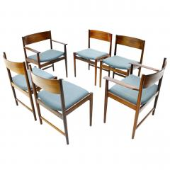Sibast Furniture Co Set of Six Kurt Ostervig Dining Chairs for Sibast Denmark 1960s - 794480