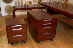 Sibast Furniture Co Stunning Modern Custom Rosewood Desk Suite - 435523