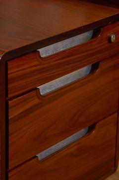 Sibast Furniture Co Stunning Modern Custom Rosewood Desk Suite - 435526