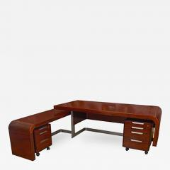 Sibast Furniture Co Stunning Modern Custom Rosewood Desk Suite - 435959