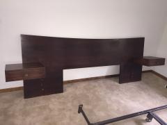 Singer Sons Italian Mahogany Headboard with Side Tables by Singer and Sons - 1082356