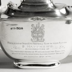 Sir Stanley Mathews four piece silver tea set - 2057514