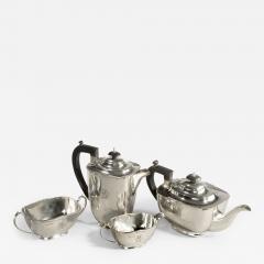 Sir Stanley Mathews four piece silver tea set - 2060163