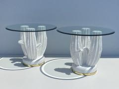 Sirmos Pair of Plaster Cactus Side End Tables - 2056588