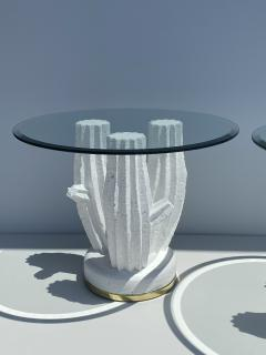 Sirmos Pair of Plaster Cactus Side End Tables - 2056591