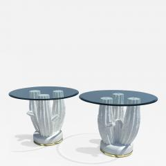Sirmos Pair of Plaster Cactus Side End Tables - 2059971