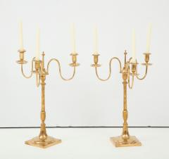 Skultuna A Pair of Swedish Skultuna Brass Candelabra Circa 1860s - 1209137