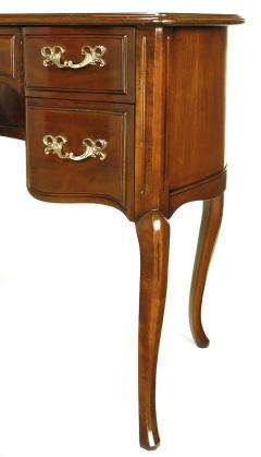Sligh Lowry Furniture Co Sligh Walnut Curved Front Desk With Leather Top    38973