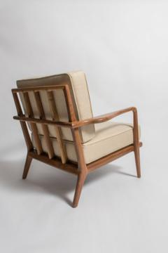 High Quality Smilow Furniture Vintage 1950 S Solid Walnut Smilow Tailback Lounge Chair    180621
