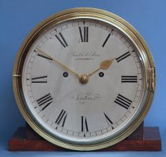 Smith Son Late Victorian Nautical Striking Bulkhead Clock Incorporating the Dog Watches  - 1276598