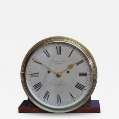 Smith Son Late Victorian Nautical Striking Bulkhead Clock Incorporating the Dog Watches  - 1277577