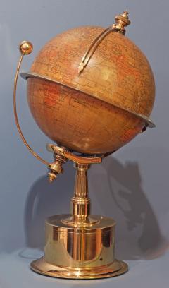 Smith Son c 1885 French Polished Brass World Time Globe Clock - 1184102