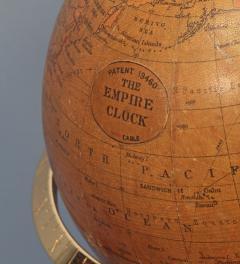 Smith Son c 1885 French Polished Brass World Time Globe Clock - 1184113
