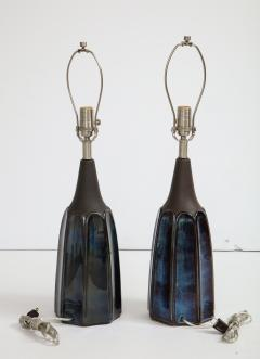 Soholm Pottery Soholm Danish Modern Midnight Blue Lamps - 1241169
