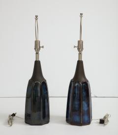 Soholm Pottery Soholm Danish Modern Midnight Blue Lamps - 1241170