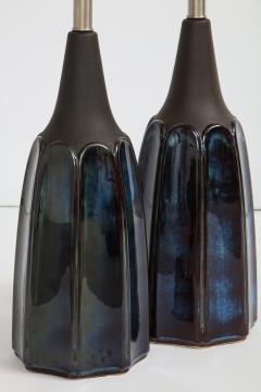 Soholm Pottery Soholm Danish Modern Midnight Blue Lamps - 1241171