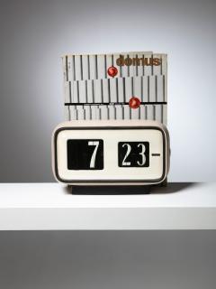 Solari Udine Cifra 5 Desk clock by Gino Valle for Solari - 1085592