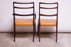 Sor M belfabrik Soro Mobelfabrik Set of Eight Danish Rosewood and Leather Dining Chairs by Sor Stolefabrik - 1174651
