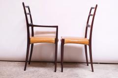 Sor M belfabrik Soro Mobelfabrik Set of Eight Danish Rosewood and Leather Dining Chairs by Sor Stolefabrik - 1174654