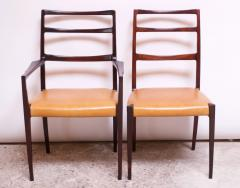 Sor M belfabrik Soro Mobelfabrik Set of Eight Danish Rosewood and Leather Dining Chairs by Sor Stolefabrik - 1174655
