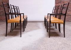 Sor M belfabrik Soro Mobelfabrik Set of Eight Danish Rosewood and Leather Dining Chairs by Sor Stolefabrik - 1174657