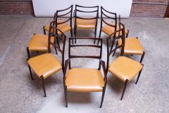 Sor M belfabrik Soro Mobelfabrik Set of Eight Danish Rosewood and Leather Dining Chairs by Sor Stolefabrik - 1174658