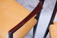 Sor M belfabrik Soro Mobelfabrik Set of Eight Danish Rosewood and Leather Dining Chairs by Sor Stolefabrik - 1174660