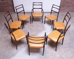 Sor M belfabrik Soro Mobelfabrik Set of Eight Danish Rosewood and Leather Dining Chairs by Sor Stolefabrik - 1174661