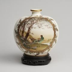 Sozan A fine 19th Century Japanese Satsuma ware vase depicting birds - 1582456