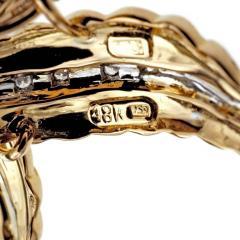 Spitzer Furman Spitzer Furman Diamond Gold Textured Star Brooche - 389547