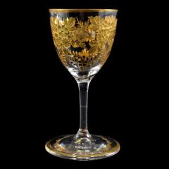 St Louis Crystal 1908 Antique French Saint Louis Crystal Gilded Liquor Cordial Glasses - 143731