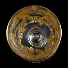 St Louis Crystal 1908 Antique French Saint Louis Crystal Gilded Liquor Cordial Glasses - 143732