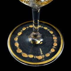 St Louis Crystal 1908 Antique French Saint Louis Crystal Gilded Liquor Cordial Glasses - 143736