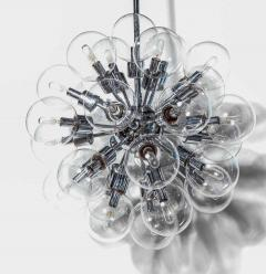 Staff Leuchten Motoko Ishii for Staff Chrome Pendant with Twenty Eight Glass Globes 1970s - 1739810