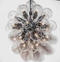 Staff Leuchten Motoko Ishii for Staff Chrome Pendant with Twenty Eight Glass Globes 1970s - 1739811