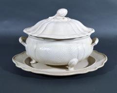 Staffordshire 18th Century Staffordshire Saltglaze Stoneware Soup Tureen Cover Stand - 1614222