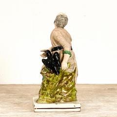 Staffordshire Circa 19th Century Elijah and the Raven Staffordshire Figure England - 1955748