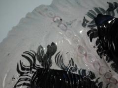 Staffordshire Large Staffordshire Recumbent Black and White Spaniel - 1747818