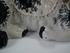 Staffordshire Large Staffordshire Recumbent Black and White Spaniel - 1747823