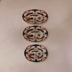 Staffordshire Set of Three Masons Graduated Platters - 768432