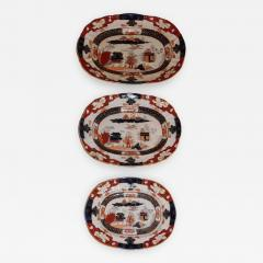 Staffordshire Set of Three Masons Graduated Platters - 770253