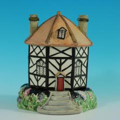 Staffordshire Staffordshire Pearlware Octagonal Cottage Pastille Burner - 2071427