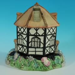 Staffordshire Staffordshire Pearlware Octagonal Cottage Pastille Burner - 2071428