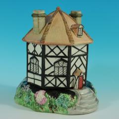 Staffordshire Staffordshire Pearlware Octagonal Cottage Pastille Burner - 2071430