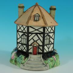 Staffordshire Staffordshire Pearlware Octagonal Cottage Pastille Burner - 2071431