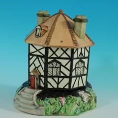 Staffordshire Staffordshire Pearlware Octagonal Cottage Pastille Burner - 2071436
