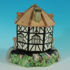 Staffordshire Staffordshire Pearlware Octagonal Cottage Pastille Burner - 2071437