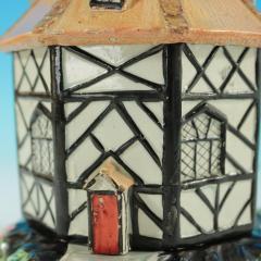 Staffordshire Staffordshire Pearlware Octagonal Cottage Pastille Burner - 2071442