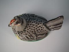 Staffordshire Staffordshire Pottery Hen with Chicks on Nest - 1747760